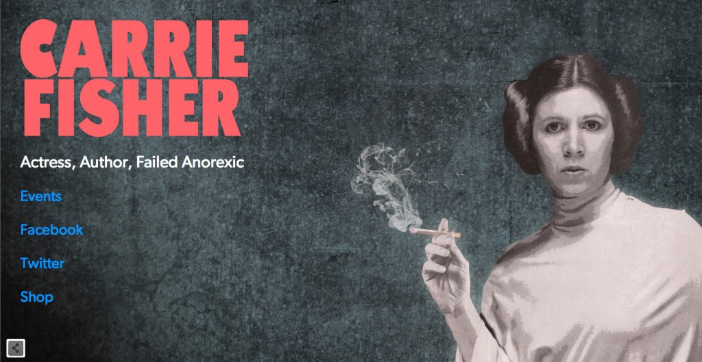 carrie fisher website