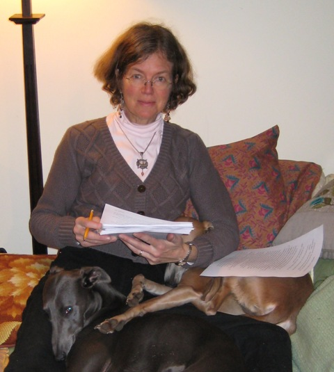 Robin McKinley and her dogs