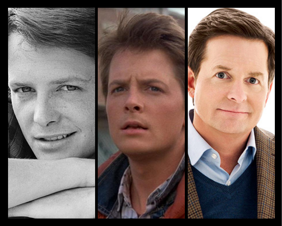 Michael J Fox through the years