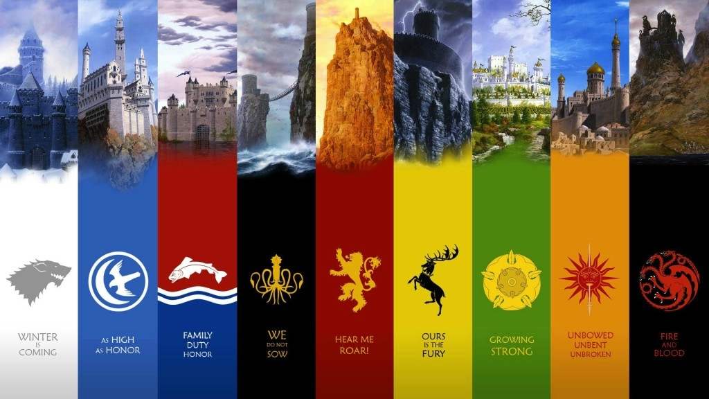 Game of Thrones major houses