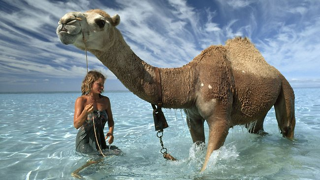 Robyn Davidson in 1977, as featured in The National Geographic. Photography by Rick Smolan
