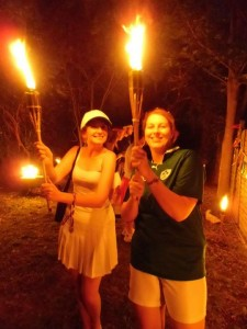 Carrying the Olympic Torches