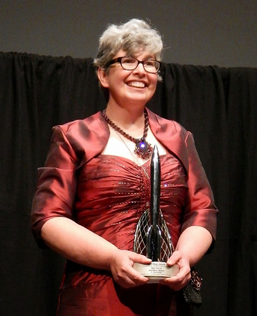 Ann Leckie at the Hugo Awards