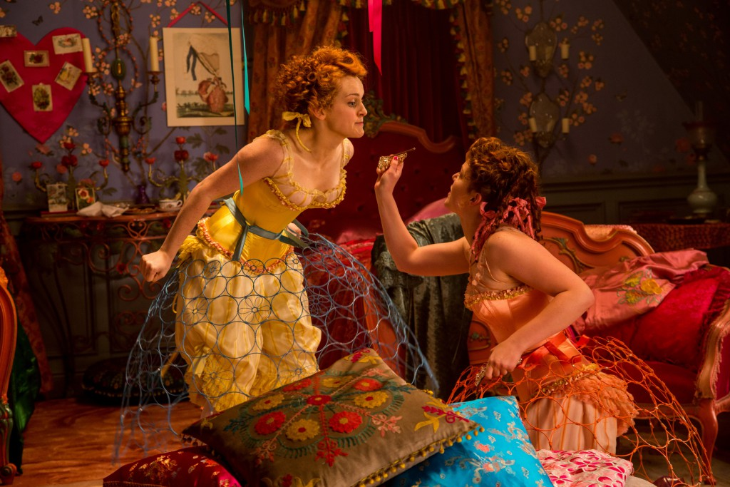Sophie McShera is Drisella and Holliday Grainger is Anastasia in Disney's live-action feature CINDERELLA, directed by Kenneth Branagh.
