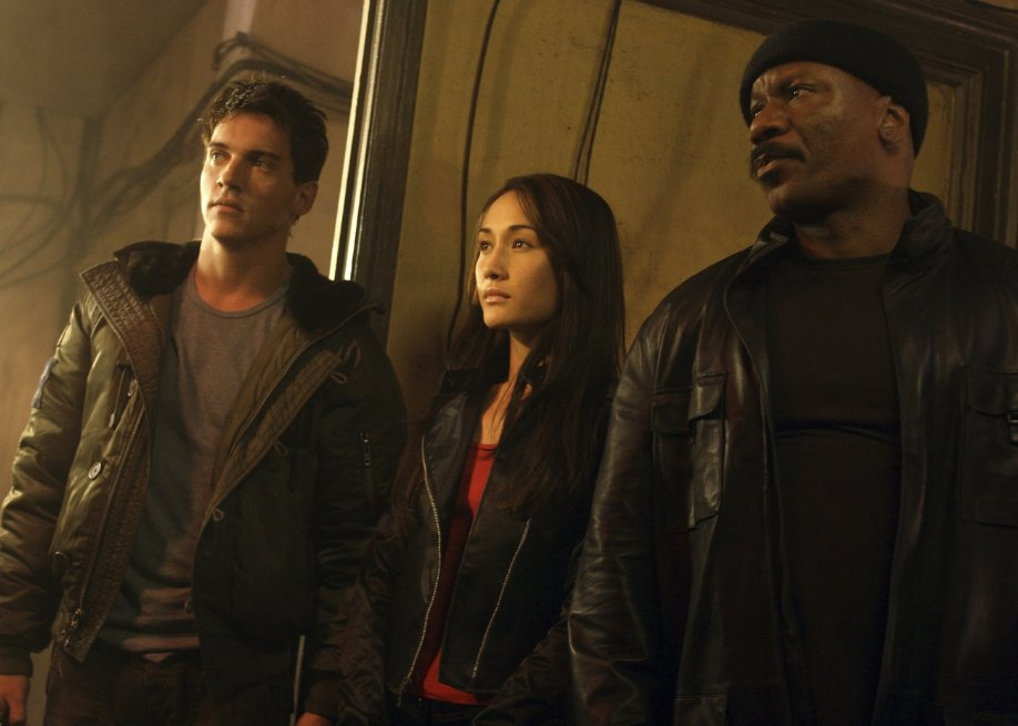 Maggie Q and the crew