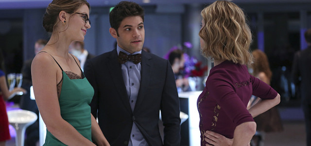 """Fight or Flight"" -- Cat plans to run an exposé on Supergirl, on SUPERGIRL, Monday, Nov. 9 (8:00-9:00 PM, ET/PT) on the CBS Television Network. Pictured left to right: Melissa Benoist, Jeremy Jordan and Calista Flockhart Photo: Cliff Lipson/CBS ©2015 CBS Broadcasting, Inc. All Rights Reserved"