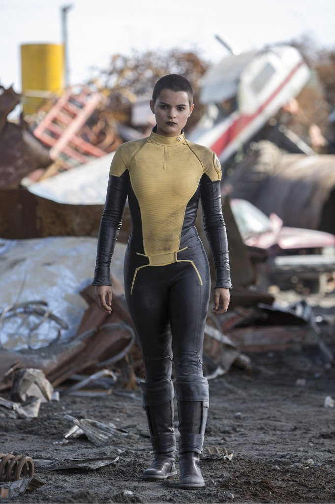 DEADPOOL  Brianna Hildebrand is the mutant Teenage Negasonic Warhead, in DEADPOOL.  Photo Credit: Joe Lederer  TM & © 2015 Marvel & Subs.  TM and © 2015 Twentieth Century Fox Film Corporation.  All rights reserved.  Not for sale or duplication.