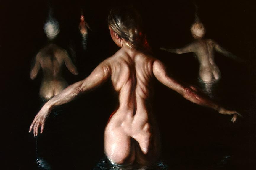 Figures in water