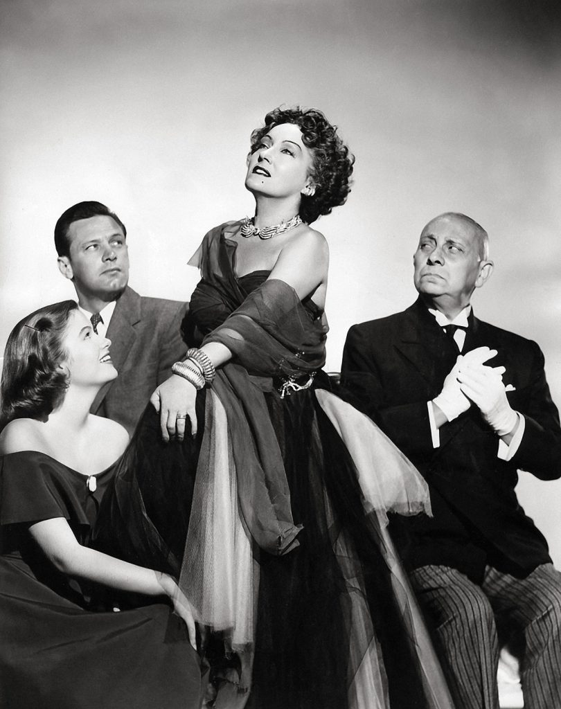 Gloria Swanson, William Holden, Erich Von Stroheim and Nancy Olson in Sunset Boulevard