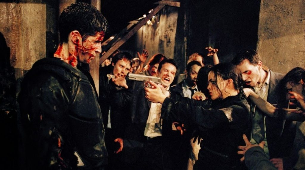 Resident Evil - the infected face off