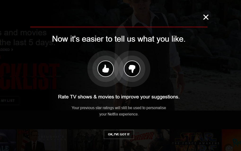 Netflix's rating system: thumbs up or thumbs down?